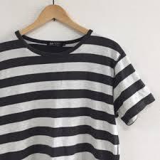IラインボーダーTシャツ