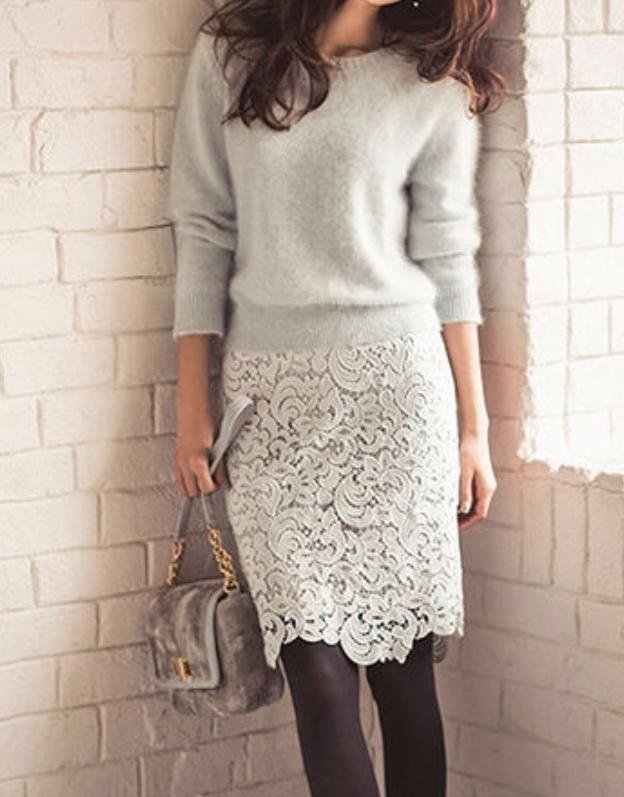 Xラインタイトスカート