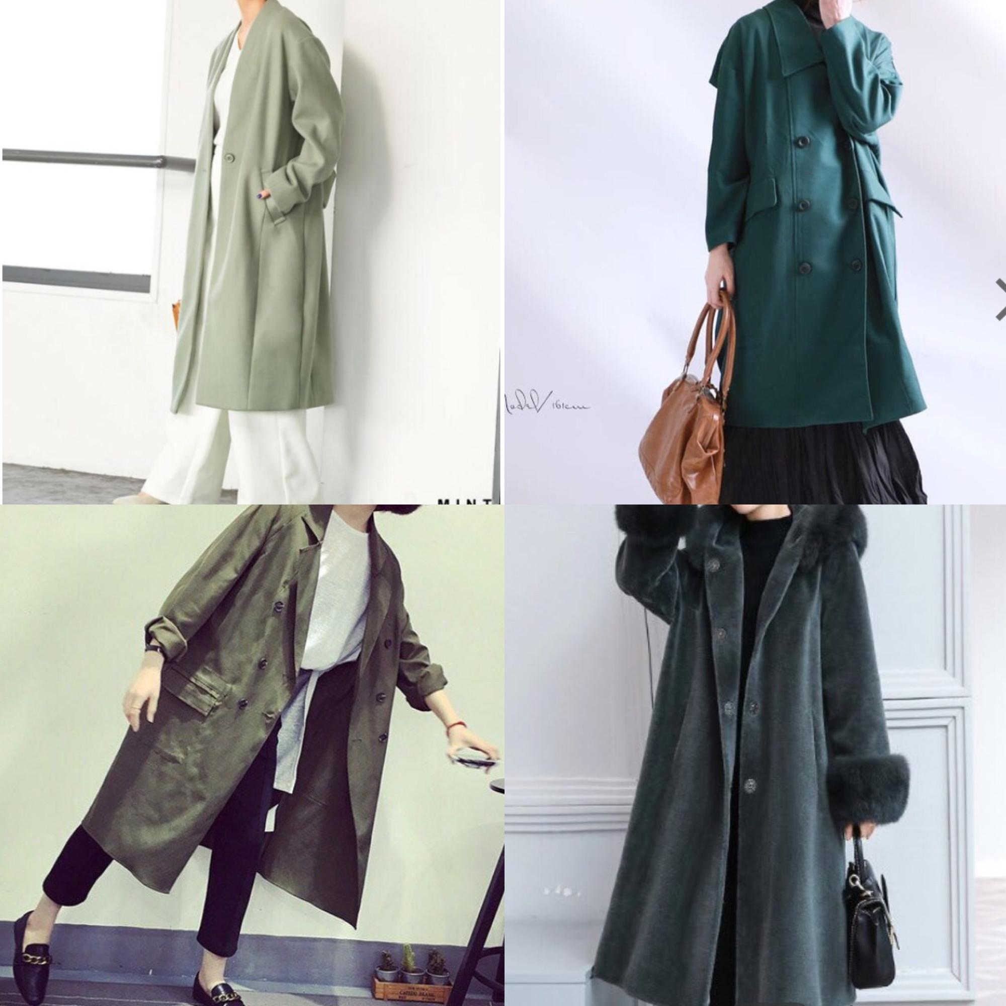 パーソナルカラー別グリーンコート