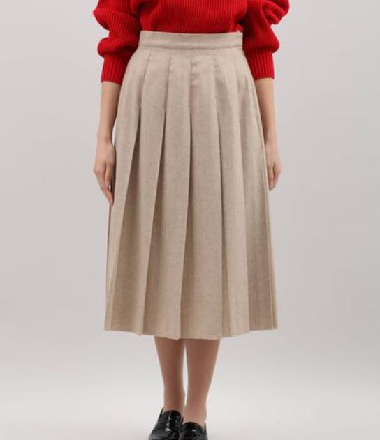 Iラインプリーツスカート