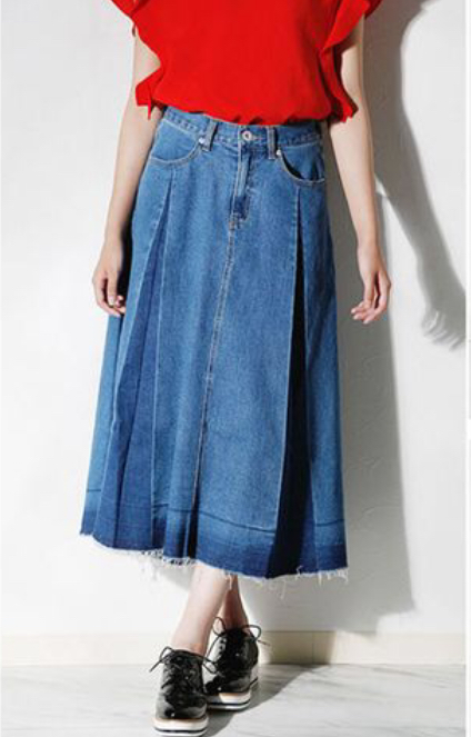 Yラインプリーツスカート
