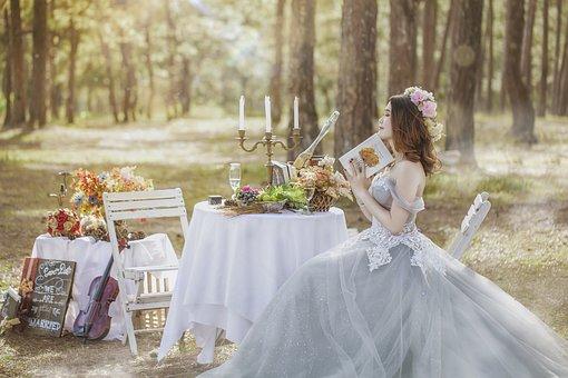 楽しむ花嫁